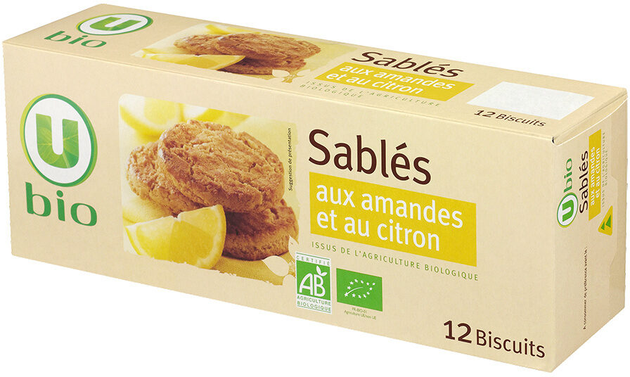 Sablés amandes citron - Produit
