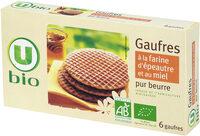 Gaufre au miel et à la farine d'épeautre - Produit - fr