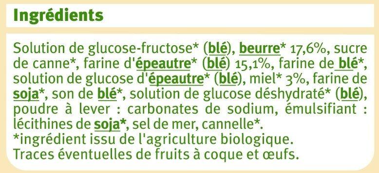 Gaufre au miel et à la farine d'épeautre - Ingrédients - fr