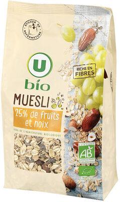 Muesli floconneux 25% de fruits et noix - Produit