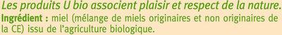 Miel crémeux - Ingrédients - fr