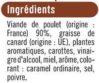 Rillettes de poulet rôti - Ingrediënten