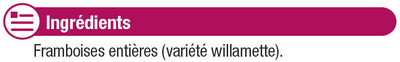 Framboises entières - Ingrédients - fr