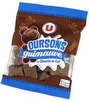Confiserie oursons en guimauve au chocolat au lait - Produit