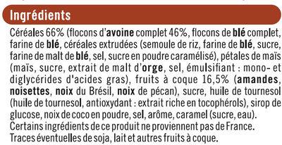 Muesli croustillant aux 4 noix - Ingredients - fr