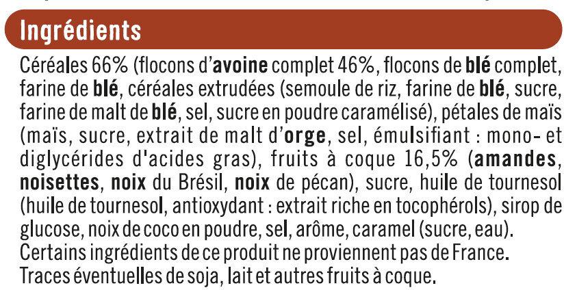 Muesli croustillant aux 4 noix - Ingrédients - fr