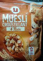 Muesli croustillant aux 4 noix - Nutrition facts - en