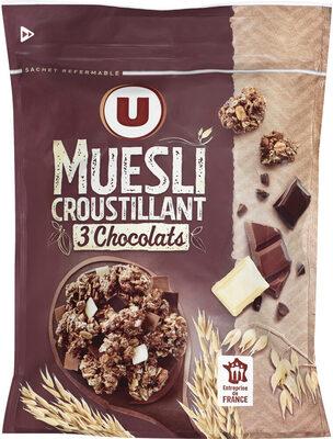 Muesli Croustillant aux 3 Chocolats - Produit - fr