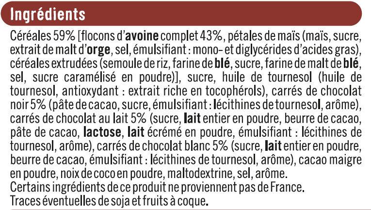 Muesli Croustillant aux 3 Chocolats - Ingrediënten