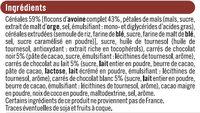 Muesli Croustillant aux 3 Chocolats - Ingrediënten - fr