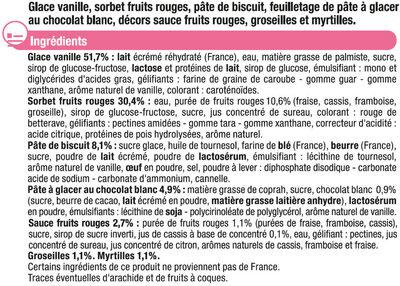 Feuilleté glacé vanille fruits rouges - Ingredients - fr
