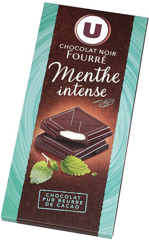 Tablette de chocolat noir fourré à la menthe - Produit