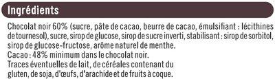 Tablette de chocolat noir fourré à la menthe - Ingrédients - fr