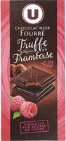 Tablette de chocolat noir fourré et pépites à la framboise - Product - fr
