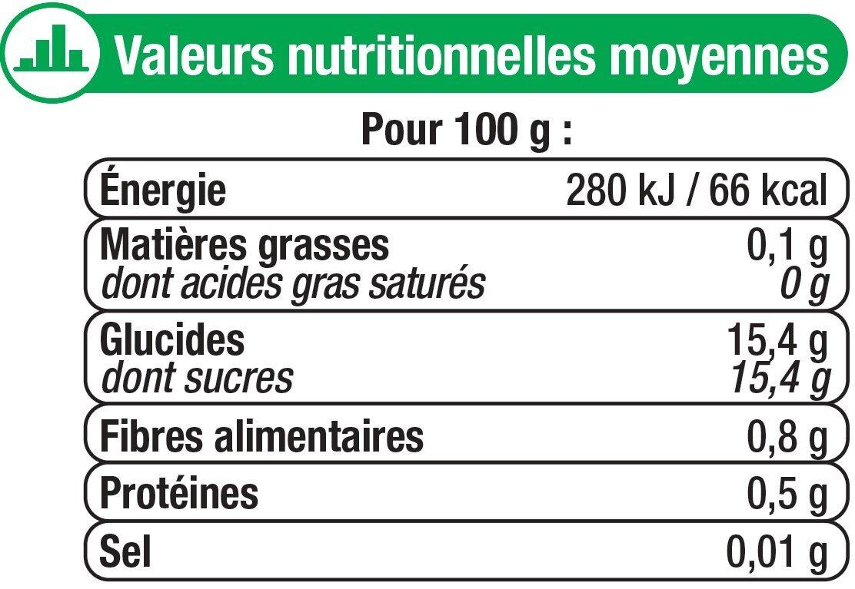 Oreillons d'abricots au sirop léger - Nutrition facts - fr