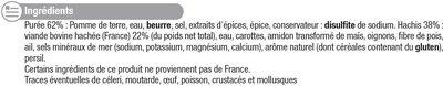 Hachis parmentier pur boeuf - Ingrediënten - fr