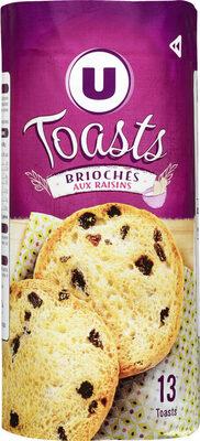 Toasts briochés aux raisins - Produit - fr