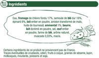 Lasagnes au chèvre et épinards - Inhaltsstoffe - fr