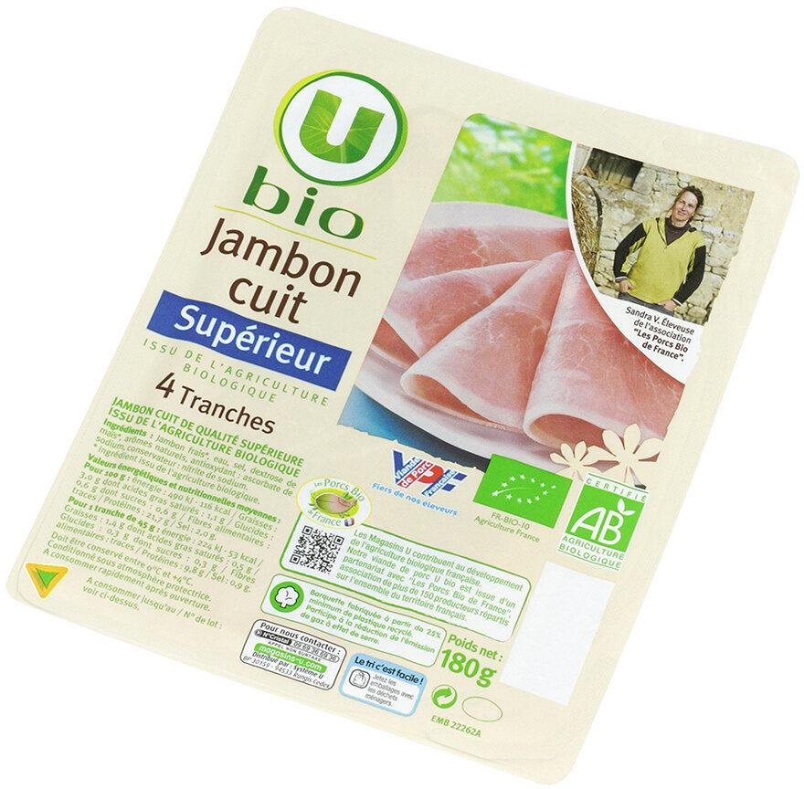 Jambon Supérieur U Bio 180 G