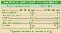 Jambon supérieur - Nutrition facts