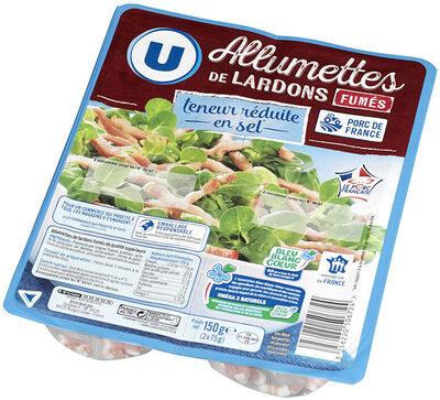Lardons allumettes fumés à teneur réduite en sel réduit et Oméga 3 Viande de Porc Française - Product