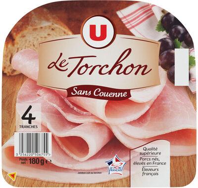 Jambon cuit au torchon découenné - Produit - fr