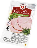 Rôti de porc cuit aux herbes viande de porc Française - Product