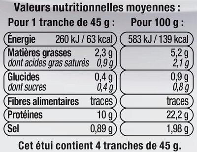 Rôti de porc cuit aux herbes viande de porc Française - Nutrition facts
