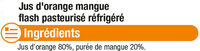 Pur jus réfrigéré orange/mangue - Ingrediënten