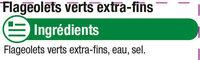 Flageolets verts extra-fins - Ingredients - fr