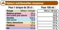 Velouté de poireaux et pommes de terre - Informations nutritionnelles - fr