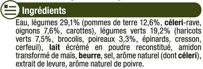Mouliné de légumes vert - Ingredients - fr