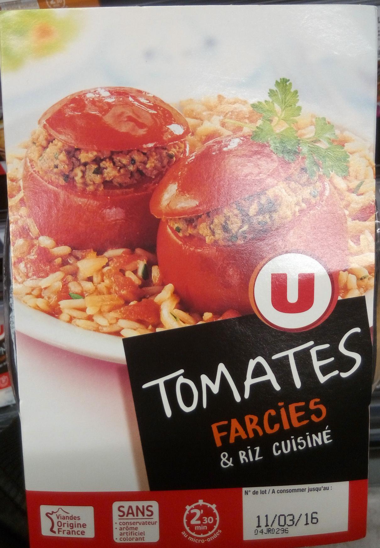 Tomates farcies & riz cuisiné - Produit - fr