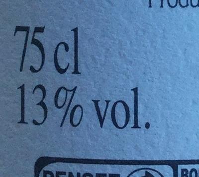 Vin rosé AOC Côtes de Provence Cellier des esperides - Nutrition facts - fr