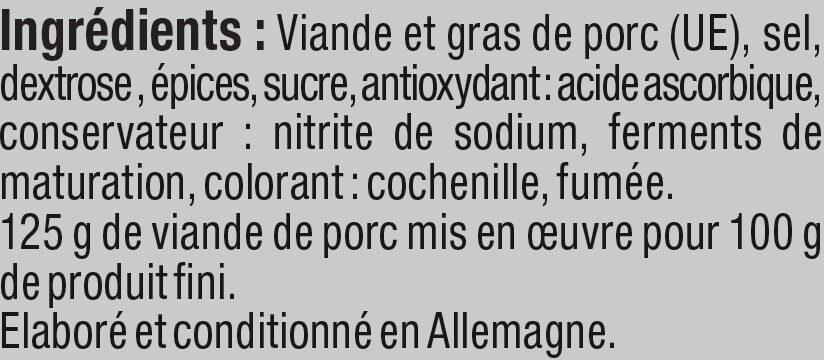Salami danois - Ingredients - fr