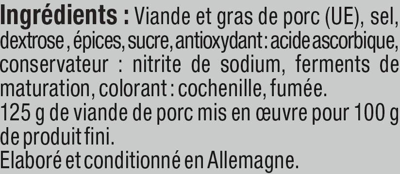 Salami danois - Ingrédients - fr