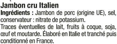 Jambon cru Italien - Ingredients
