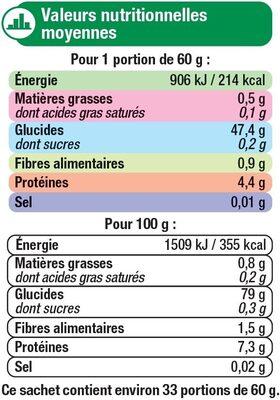 Riz Long cuisson rapide - Nutrition facts - fr
