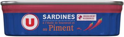 Sardines à l'huile de tournesol et au piment - Produit