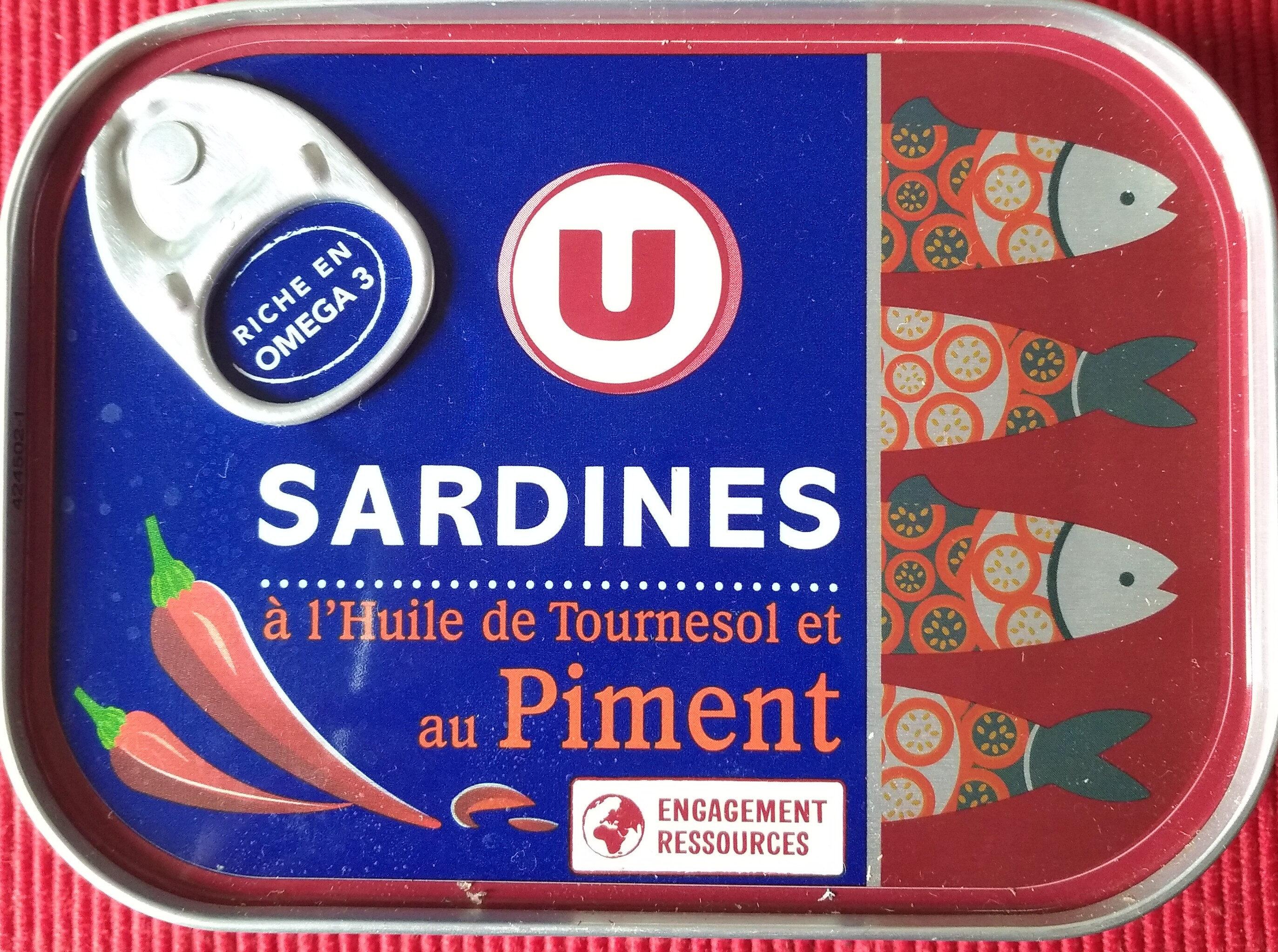 Sardines à l'huile de tournesol et au piment - Product - fr