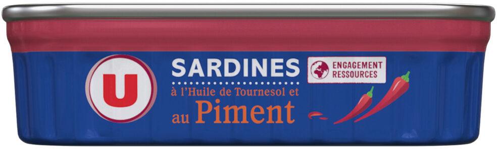 Sardines à l'huile de tournesol et au piment - Produit - fr