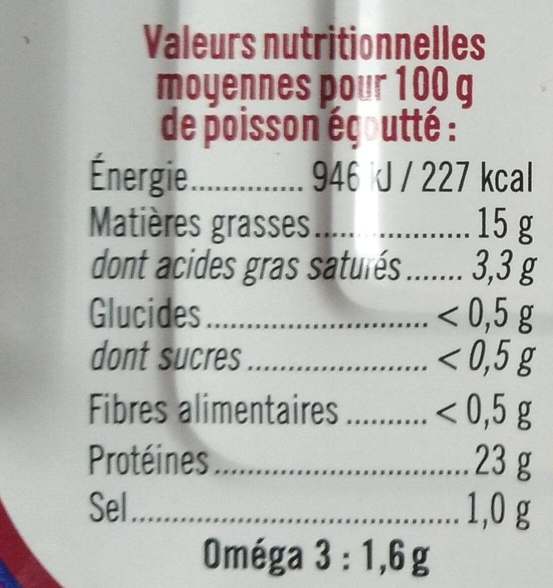 Sardines à l'huile de tournesol et au piment - Voedingswaarden - fr