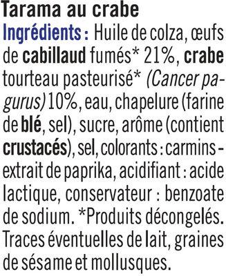 Tarama Au Crabe - Ingrédients - fr