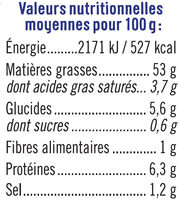 Tarama Au Crabe - Informations nutritionnelles - fr