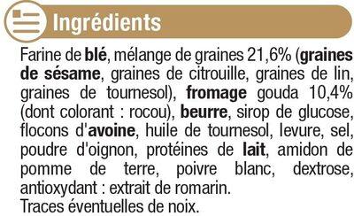 Ondulés fromage et graines - Ingrédients - fr