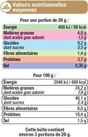 Ondulés fromage et graines - Informations nutritionnelles - fr