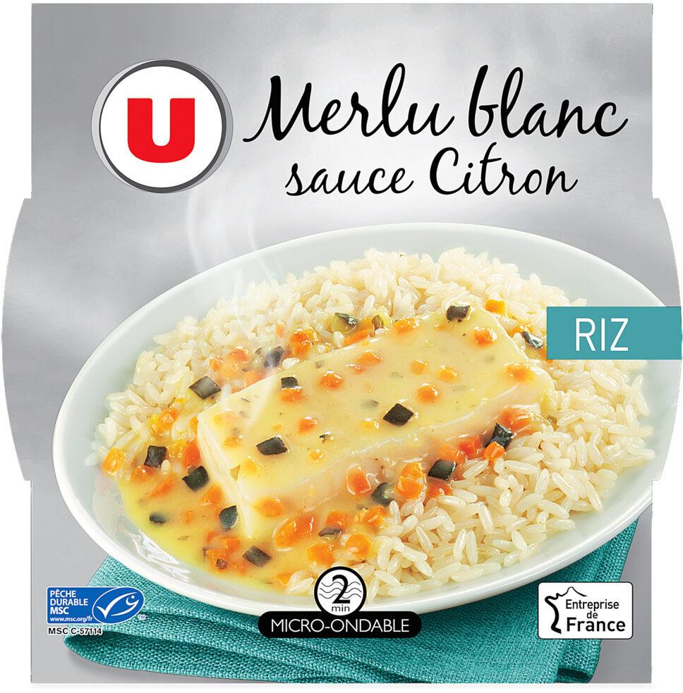 Merlu blanc sauce citron et riz - Produit - fr