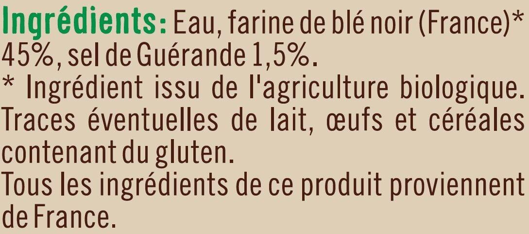 Galettes de sarrasin - Ingrédients - fr