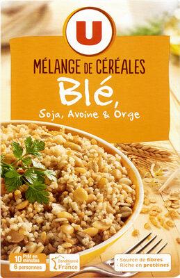 Mélange de céréales blé, soja, avoine et orge - Produit - fr