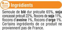 Mélange de céréales blé, soja, avoine et orge - Ingrédients - fr